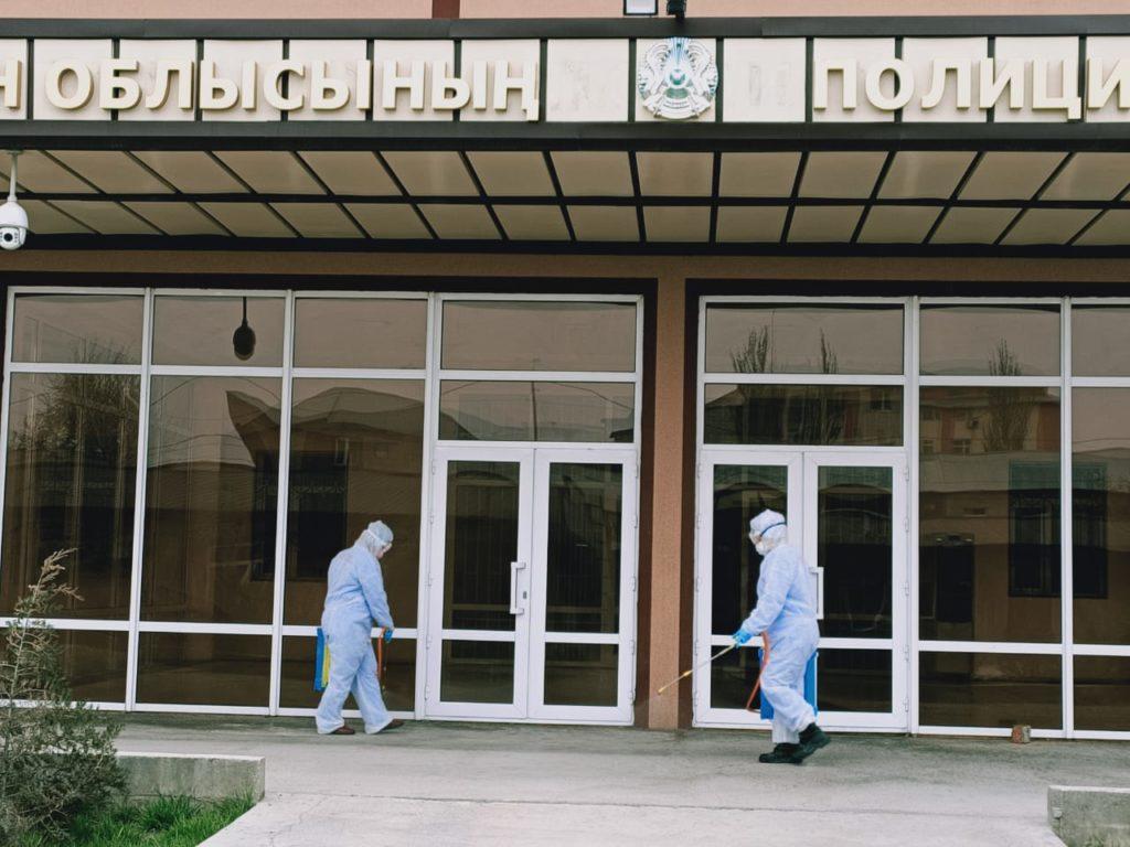 Түркістан облысы Полиция департаменті ғимаратында коронавирусқа қарсы дезинфекция жасалды