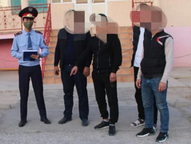 Түркістан облысының полицейлері бірнеше ұрлық жасаған қылмыстық топты құрықтады