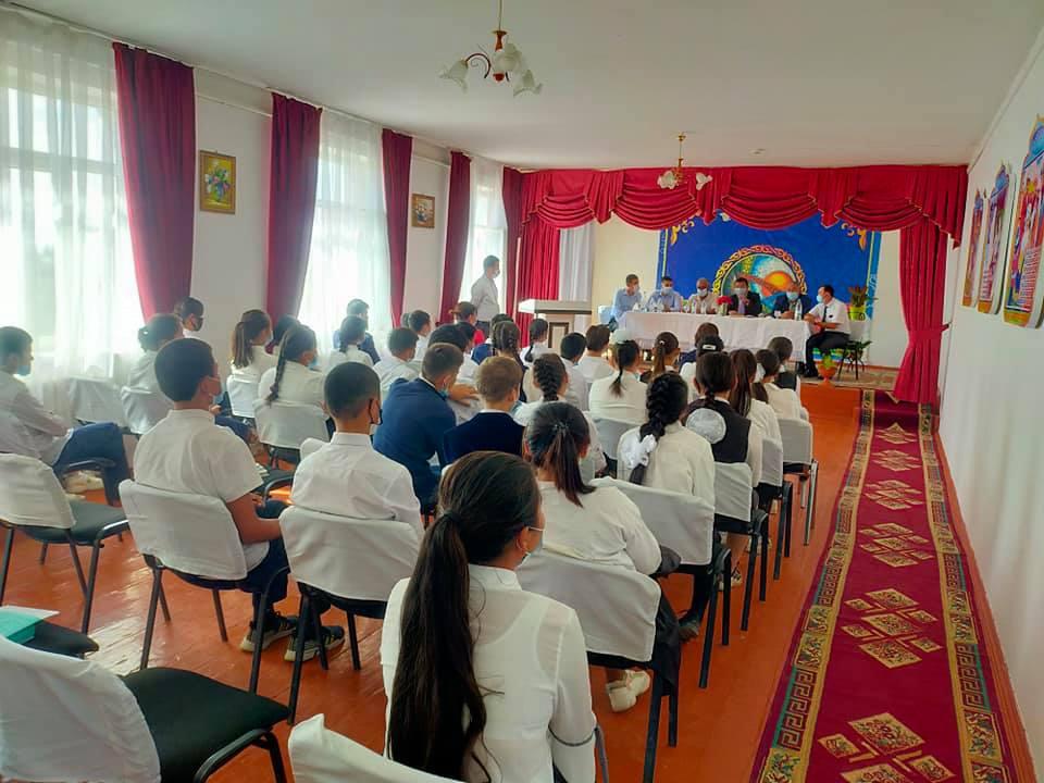 Сауран ауданында діни сауаттылықты арттыру туралы оқушылармен кездесу өтті